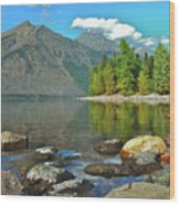 Reflections Glacier National Park  Wood Print