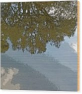 Reflections In A Lake - Poster Edges Wood Print