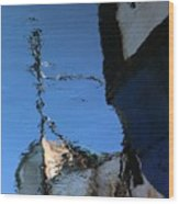 Reflections In Blue Wood Print