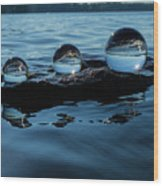 Reflections In Crystal Wood Print