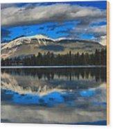 Reflections In Lake Beauvert Wood Print
