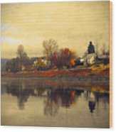 Reflections In Nakusp Wood Print