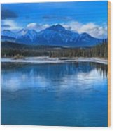 Reflections In The Athabasca Wood Print