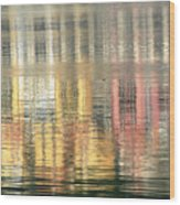 Reflections In Water Wood Print
