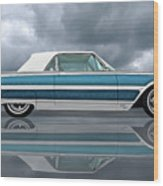Reflections Of A 1961 Thunderbird Wood Print