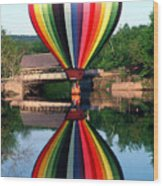 Reflections Of A Balloonist Wood Print