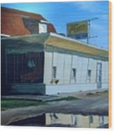 Reflections Of A Diner Wood Print