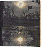 Reflections Of A Super Moon Wood Print