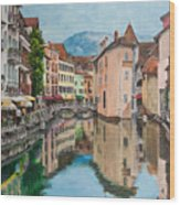 Reflections Of Annecy Wood Print