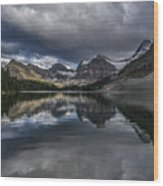 Reflections Of Assiniboine Wood Print