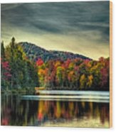 Reflections Of Autumn On West Lake Wood Print