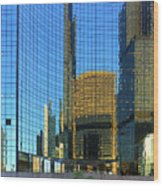 Reflections Of Chicago Wood Print