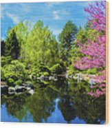Reflections Of Denver Wood Print