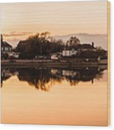Reflections Of Emsworth Wood Print by Trevor Wintle