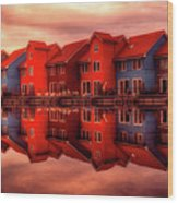 Reflections Of Groningen Wood Print