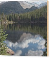 Reflections Of Majestic Mountains Wood Print