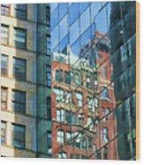Reflections Of Manhattan Wood Print
