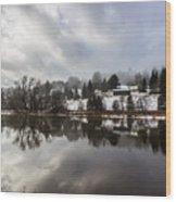 Reflections Of Winter Flood Wood Print