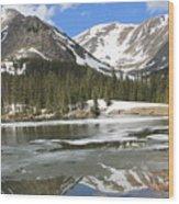 Reflections On Chinns Lake 5 Wood Print