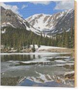 Reflections On Chinns Lake 6 Wood Print