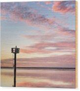 Reflections On Falling Dusk Wood Print