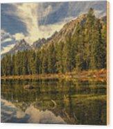 Reflections On Jenny Lake Wood Print