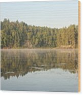 Reflections On Lake Four Wood Print