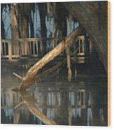 Reflections On Lake Pretty  Wood Print