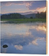 Reflections On Mica Bay Wood Print
