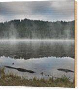Reflections On Reflection Lake 2 Wood Print