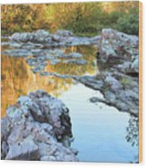 Reflections On Rocky Creek 2 Wood Print
