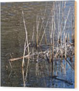 Reflections On The Yellow River Wood Print