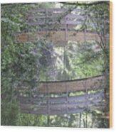 Reflections The Bridge Wood Print
