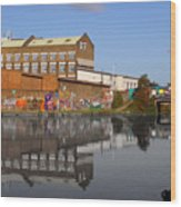 Reflective Canal Wood Print