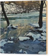 Reflective Chill Wood Print