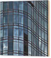 Reflective High Rise Building Wood Print