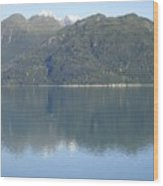 Reflective Moment In Glacier Bay Wood Print