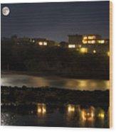 Reflective Nights Wood Print