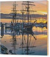Reflectons On Sailing Ships Wood Print