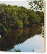 Reflects Wood Print