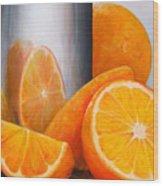 Reflet orange Wood Print
