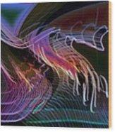Reflexions Blue Wood Print