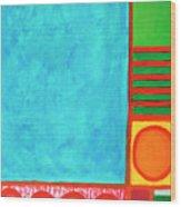 Refreshing Blue Wood Print