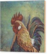 Regal Rooster Wood Print