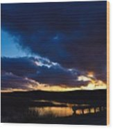 Regal Sundown Wood Print