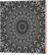 Regalia Black And White No. 4 Wood Print