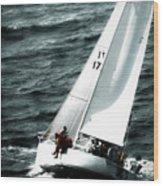 Regatta Sailboat Races Wood Print
