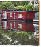 Regent Houseboats Wood Print