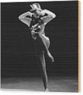 Regine Chopinot Dance Solo Wood Print