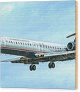Regional Jet Wood Print